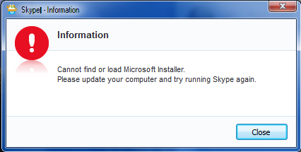 Fix lỗi Cannot find or load Microsoft installer. Please update…